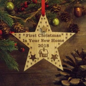First 1st Christmas in Your New Home Star Decoration Housewarming Gift Keepsake